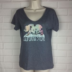 volcom gray t shirt size xs